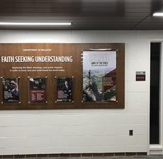 Calvin College Faith Wall