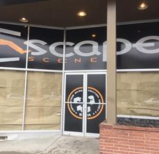 Full Color Vinyl Window Graphics - Escape Scene