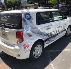 AutoTech partial vehicle wrap