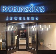 Robinson's Jewelers Illuminated Building Sign