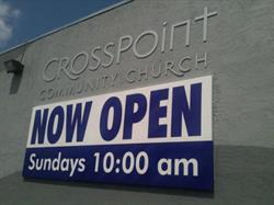 Now Open Church Banner