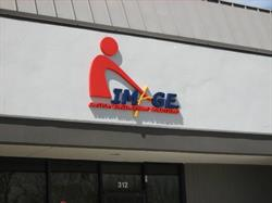 Dimensional logo for building