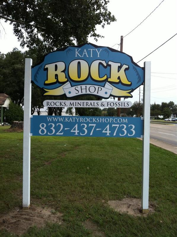 Katy Rock Shop Site Sign