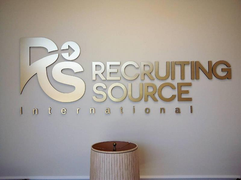 Recruiting Source International Acrylic Reception Sign