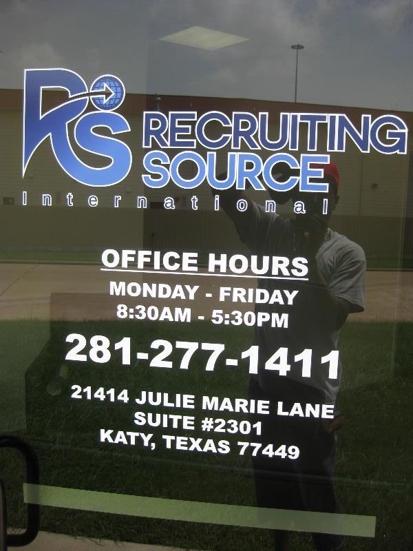 Recruiting Source International Vinyl Door Graphics