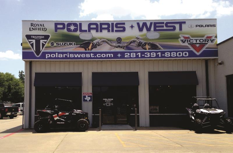 Polaris West Aluminum Building Sign