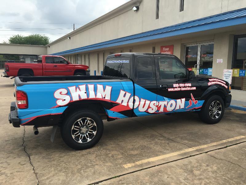 Swim Houston Vehicle Graphics