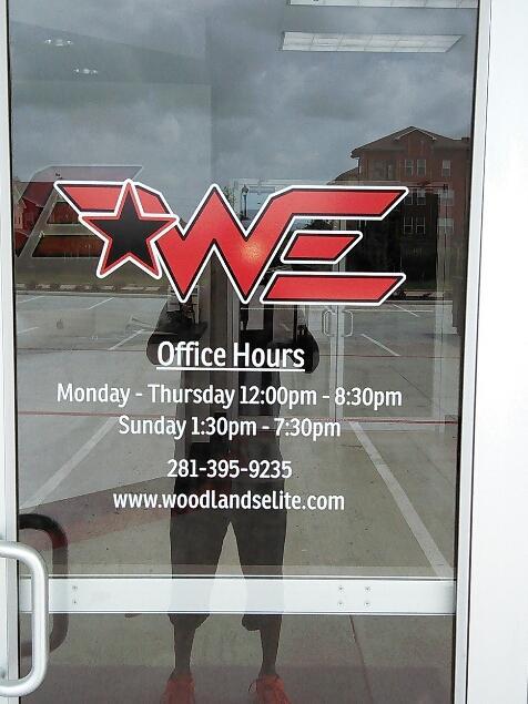 Woodlands Elite Window Graphics