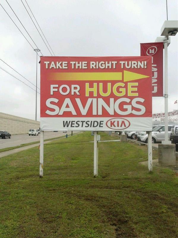 Westside Kia Billboard Banner
