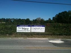 Crosspoint Community Church Fence Banner