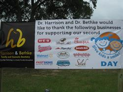 Give kids a smile sponsor banner
