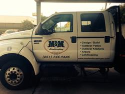 M&M Landscaping Vehicle Graphics