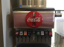 Decorative Vinyl Stripes on Soda Machine