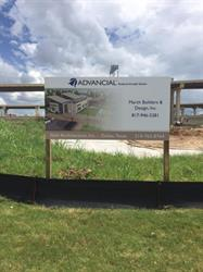 Construction Site Post And Panel Sign