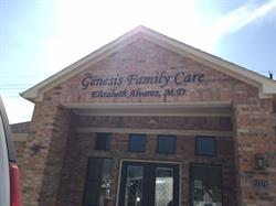 Genesis Family Care Dimensional Building Letters