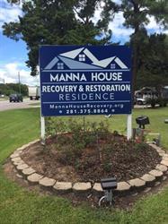 Manna House Entrance Sign