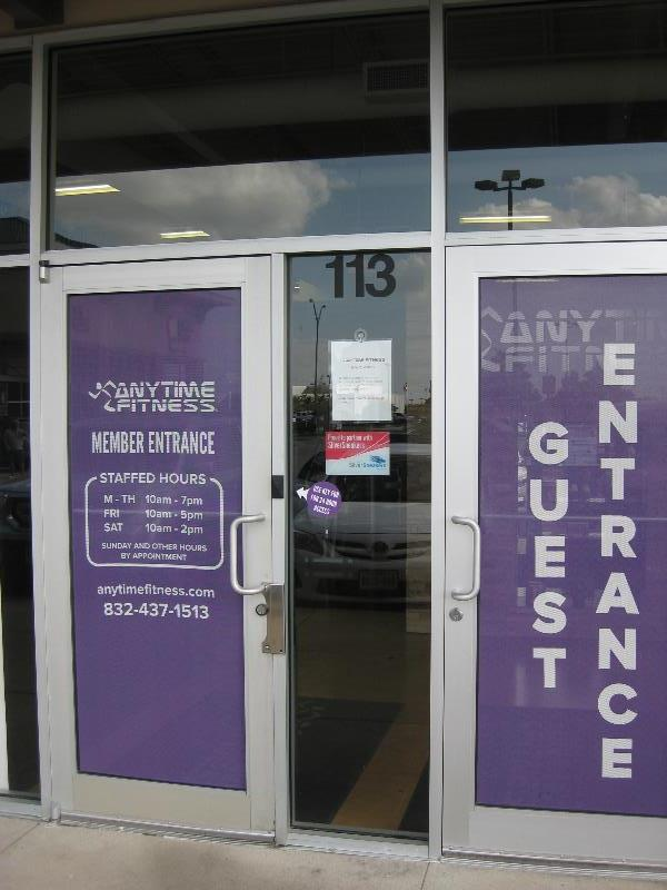Anytime Fitness Perforated Window Film
