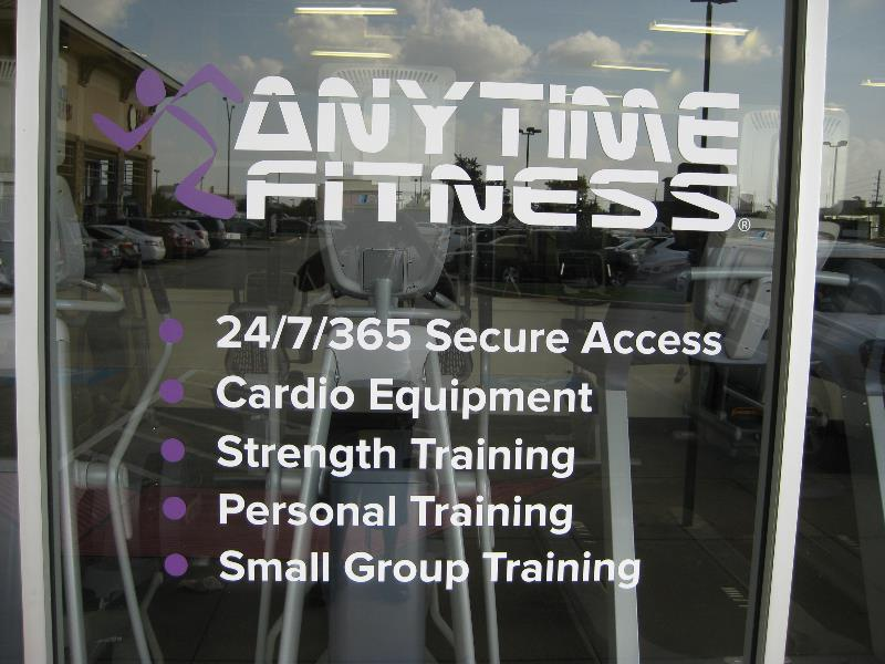 Anytime Fitness Perforated Window Graphics