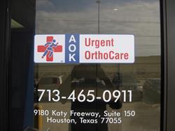 AOK Urgent OrthCare Vinyl Window Graphics