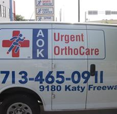 AOK Urgent OrthCare Vehicle Graphics