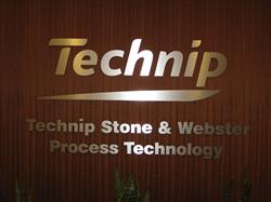 Technip Brushed Aluminum Wall Lettering