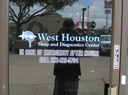 West Houston Sleep and Diagnostic center Printed Vinyl Logo