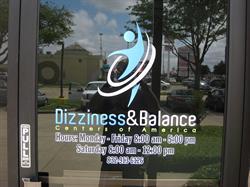 Dizziness and Balance Center Printed Vinyl Logo