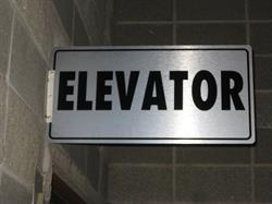 Elevator Max Metal Sign