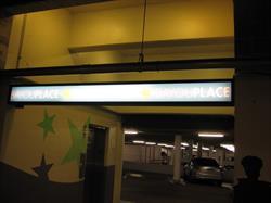 Illuminated Parking Garage Sign