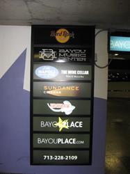 Tenant Logo Parking Garage Sign