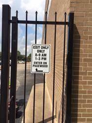 Exit Only Aluminum Gate Sign