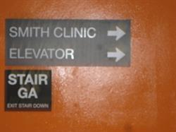 Smith Clinic Wayfinding Sign