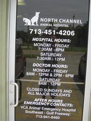 North Channel Animal Hospital Door Vinyl