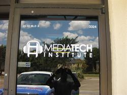 Mediatech Institute Door Vinyl