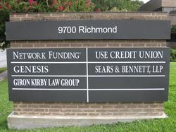 Tenant Directory Monument Sign