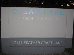Clear Lake Tech Center Monument Sign
