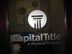 Capital Title Vinyl Door Letters