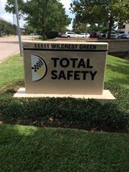 Total Safety Monument Sign