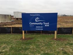 Community Trust Bank Site Sign
