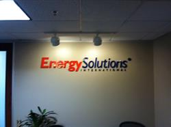 Energy Solutions International Wall Letters