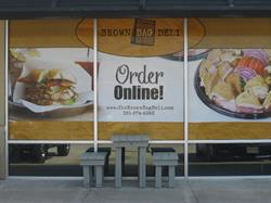 Brown Bag Deli Vinyl Window Graphics