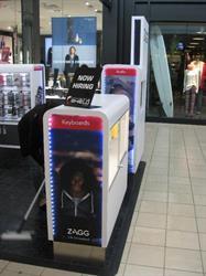 Zagg Vinyl Mall Booth Graphics
