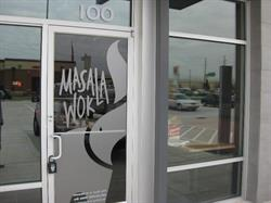 Masala Wok Vinyl Window Graphics