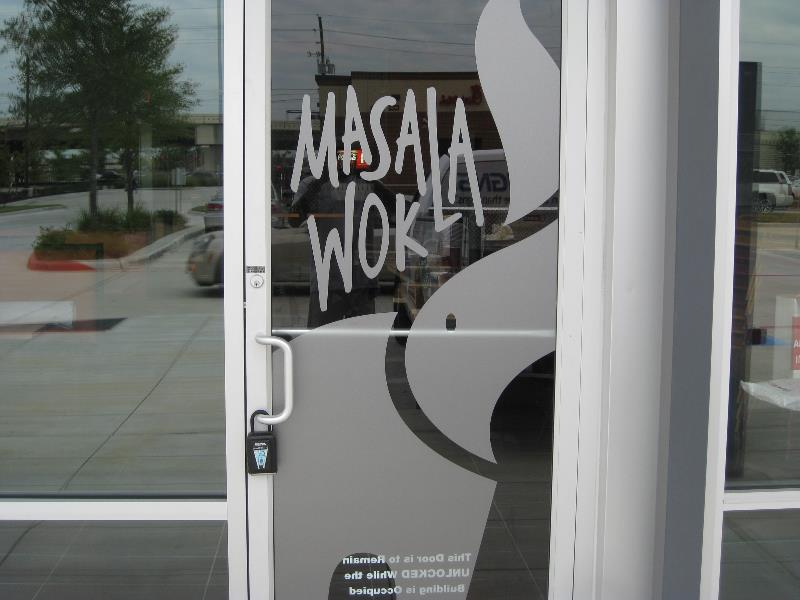 Masala Wok Vinyl Window Graphics