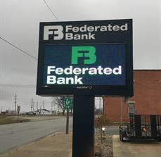 Federated Bank Loda_Digital Outdoor sign