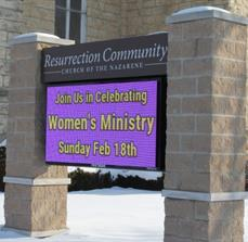 Resurrection Church_Digital display