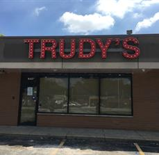 Trudy's Harvey_lighted business sign