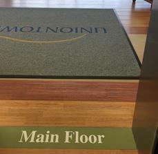 Uniontown Hospital Custom Floor Mat