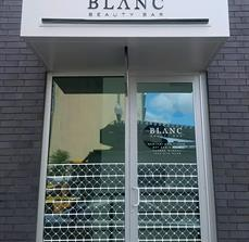 Blanc Beauty Bar Business Sign