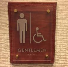 Men's ADA Sign